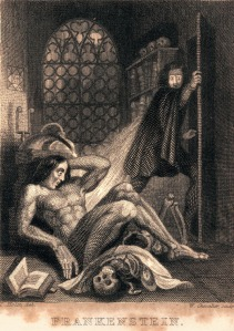 Frontispiece to Mary Shelley, Frankenstein published by Colburn and Bentley, London 1831